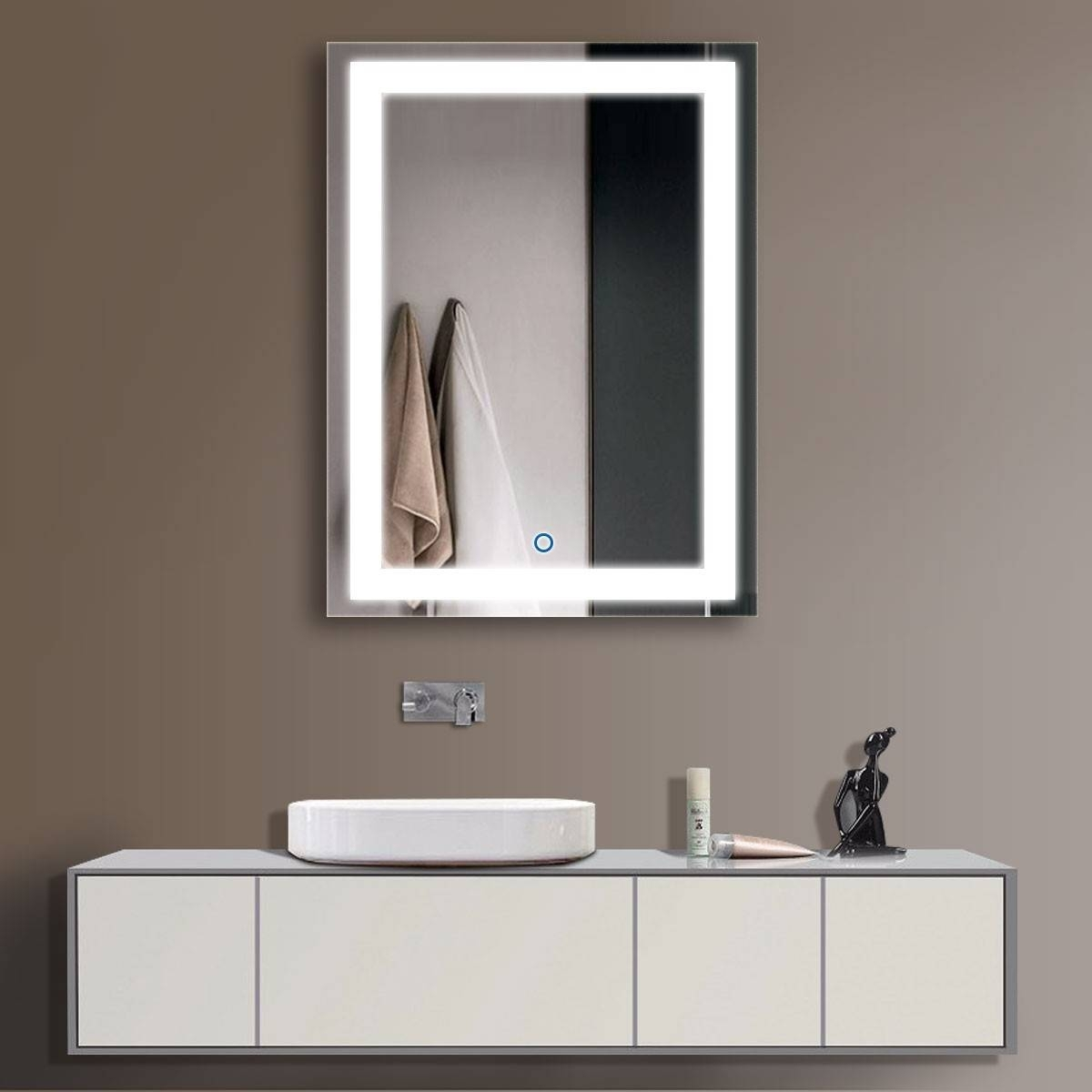 LED Bathroom Wall Mirror Illuminated Lighted Vanity Mirror .