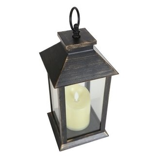 LED Lit Flickering Candle Lantern (Battery Powered)