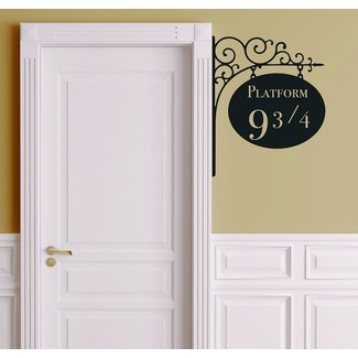 Leisure4U Platform 9 3/4 Harry Potter Door Nursery Wall Decor Sticker Decal Removable Vinyl Name Wall Art Decal