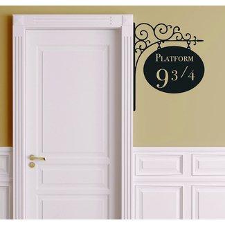 Leisure4U Platform 9 3/4 Harry Potter Door Nursery Wall Decor Sticker Decal Removable Vinyl Name Wall Art Decal
