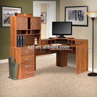 Lewisville Corner Computer Desk with Hutch