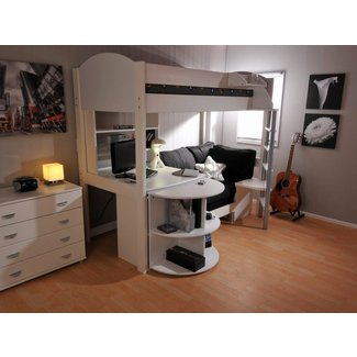 Loft Bed With Desk Underneath. Diy Loft Bed Plans With