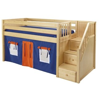 Loft Bed with Stairs for Kids Boy Full Size Loft