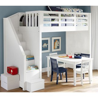 Loft Bed with Stairs for Kids | Kids Furniture Ideas