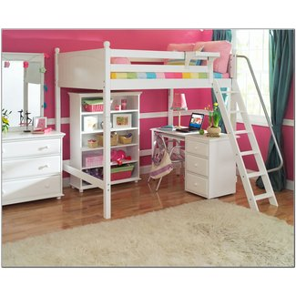 Loft Bed With Storage. Full Size Playhouse Loft Bed With
