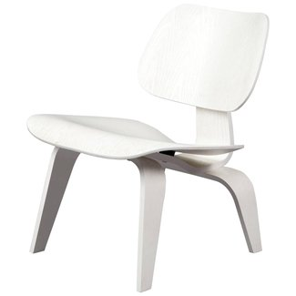 Lounge Chair Wood 'LCW' White Limited Edition, Eames Vitra ...