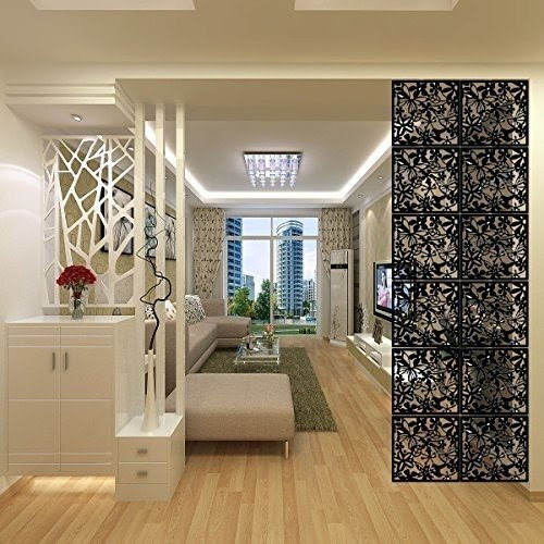 LRZCGB Hanging Room Divider,12pcs Safety PVC Screen Panel With Butterfly  Flower For Decorating Living