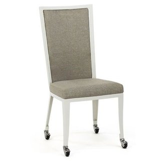 Luca Upholstered Dining Chair with Casters