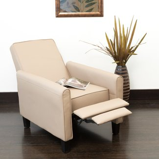 Lucas Leather Recliner Club Chair