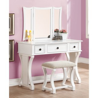 Lucca Vanity Set with Mirror