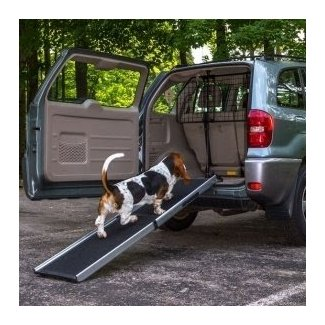 Lucky Dog Vehicle Loading Ramp +Pet Barrier Transport Kit ...