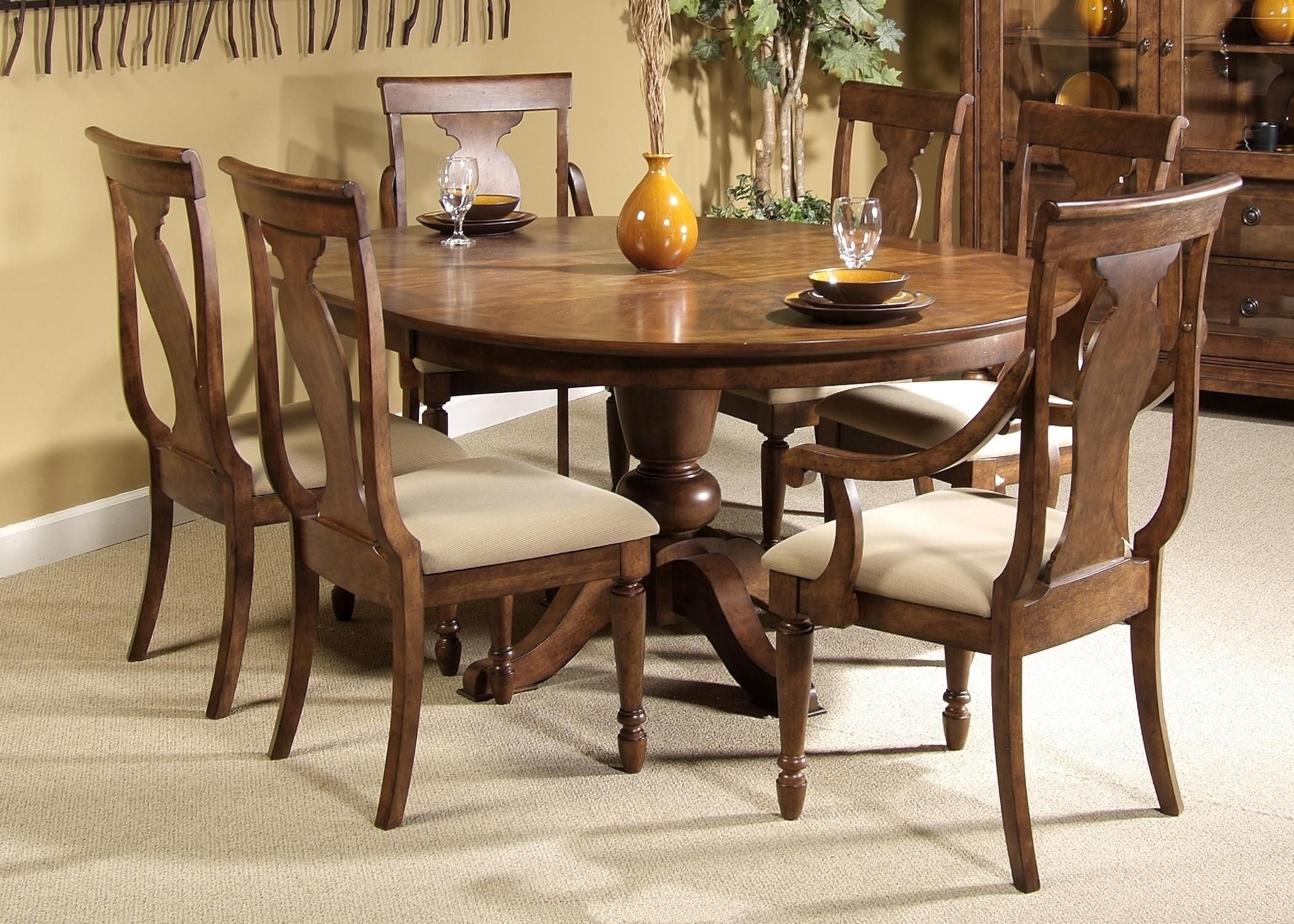 Round dining table for 6 Dining Room Luxury Round Dining Table For 68 Light Of Dining Visual Hunt Round Dining Table For Visual Hunt