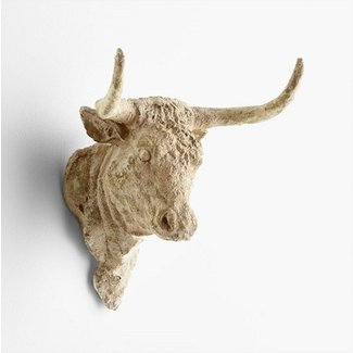 Madrid Bull Head Wall Decor French Country Farmhouse Cow ...
