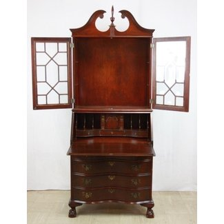 Mahogany Secretary Desk With Hutch Top : Lot 68