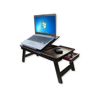 Mahogany Wood Laptop Bed Table Wooden For Breakfast, Kids ...