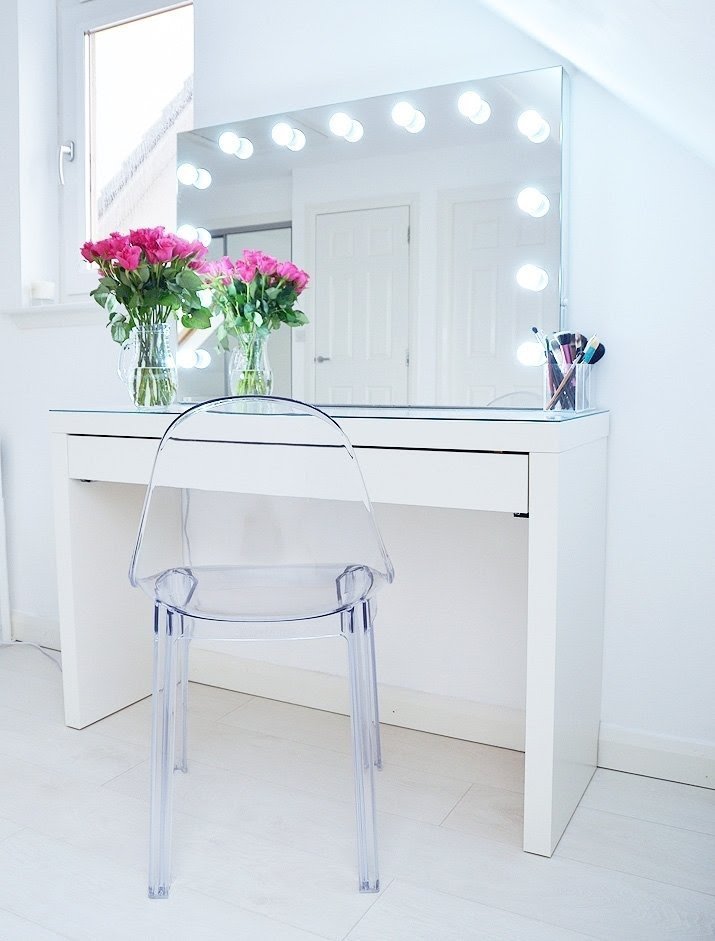 Exceptionnel Makeup Storage Ideas | Ikea Malm Makeup Vanity With Mirror