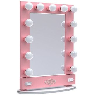 Makeup Vanity Mirror With Light Bulbs Around It ...