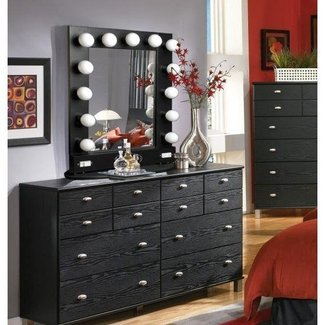 Makeup Vanity Table With Lighted Mirror. Popular Of Vanity ...