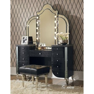 Makeup vanity table with lights visual hunt makeup vanity table with lights foter mozeypictures Image collections
