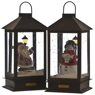Metal Christmas Lantern with Music and Lights (Battery ...
