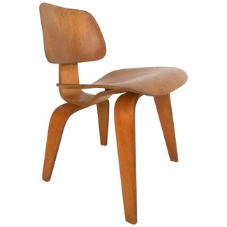Mid-Century Modern Charles Eames Wood Lounge Chair For ...