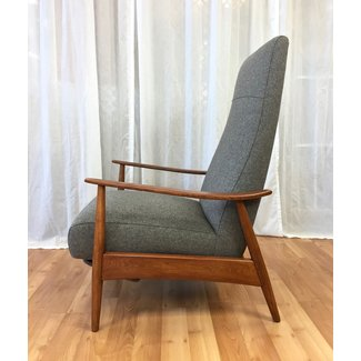 "Milo Baughman High-Back Walnut ""Recliner 74"" for Thayer ..."