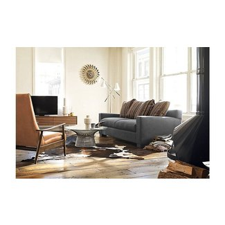Milo Baughman Recliner 74 in Saddle Leather Modern DWR ...