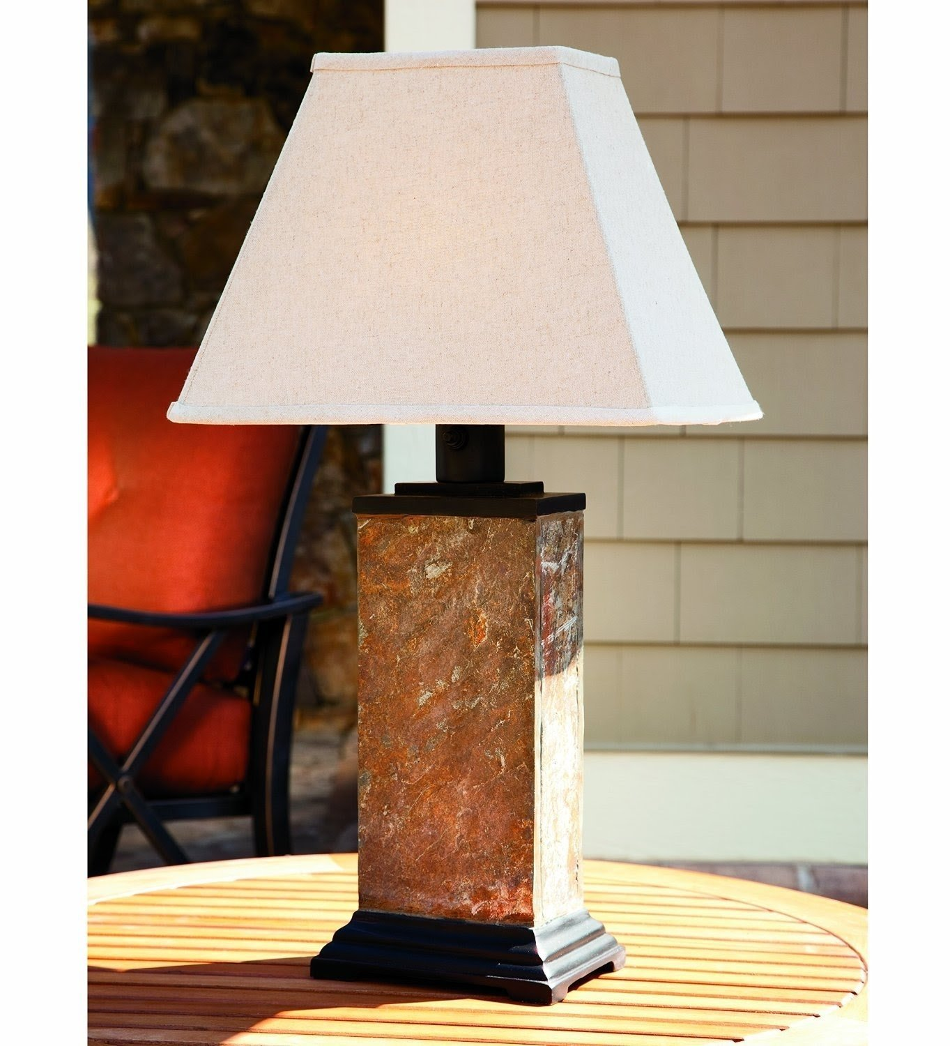 Picture of: Home Garden Other Outdoor Lighting Indoor Outdoor Led Rustic Table Lantern Lamp Solar Or Battery Operated Anios Am