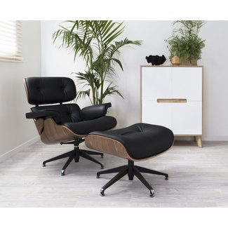 Mocka Eames Replica Lounge Chair & Ottoman | Home Furniture