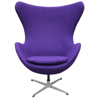 Modern Arne Jacobson Egg Chair in Royal Purple Danish ...