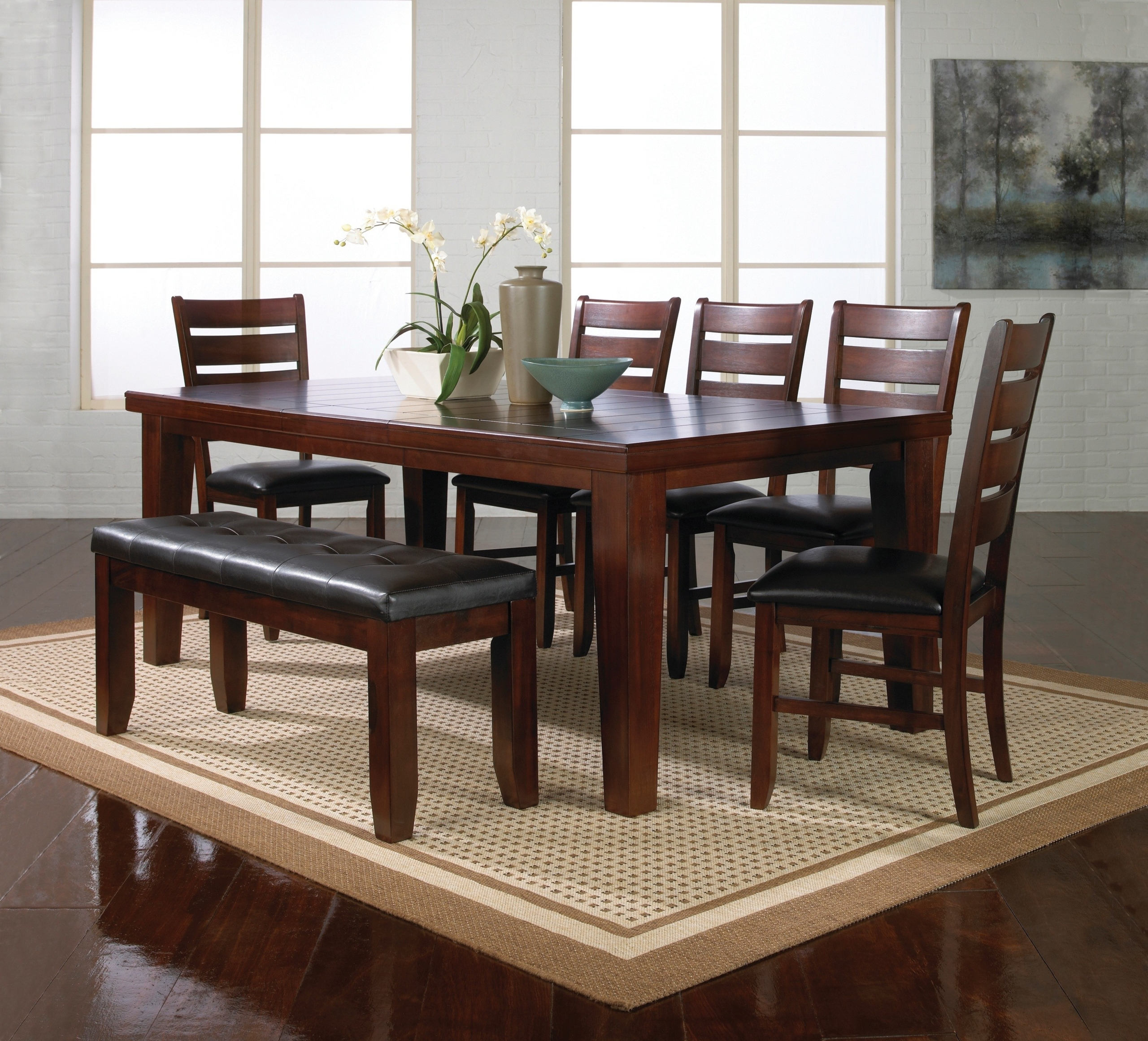 Beautiful Modern Bench Style Dining Table Set Ideas | HomesFeed