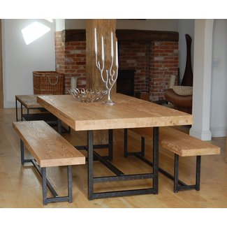 Stupendous Dining Table With Bench Visual Hunt Download Free Architecture Designs Remcamadebymaigaardcom