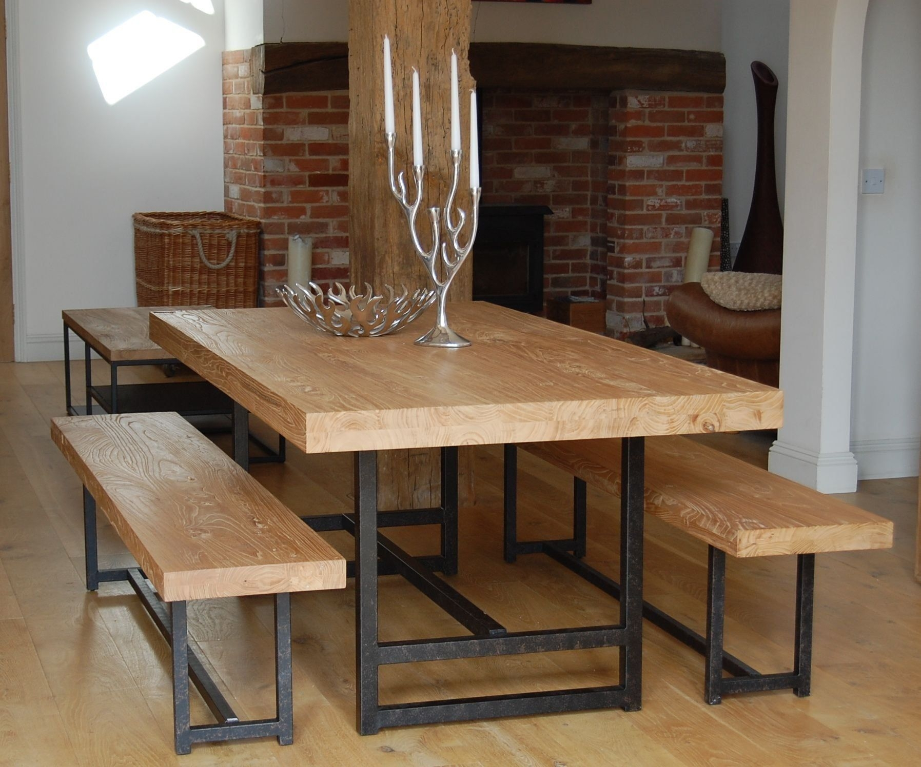 Modern Bench Style Dining Table Set Ideas | HomesFeed