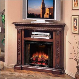 Modern Corner Electric Fireplace TV Stand Combo : Home ...