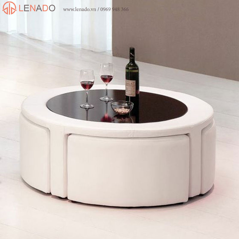 Coffee Table With Stools You Ll Love In, Round Coffee Table With Stools
