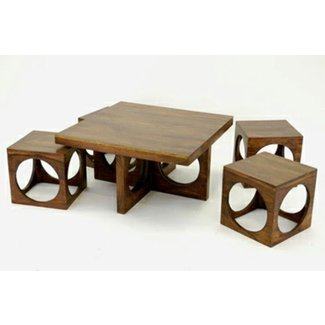 Modern Designs Of The Coffee Table With Stool! - Decor10
