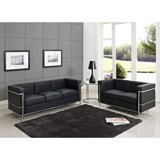Modern Dezignz | Leather Le Corbusier LC2 Loveseat and ...