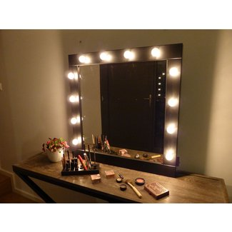 Vanity mirror with light bulbs visual hunt modern large vanity mirror doherty house characterize aloadofball Image collections
