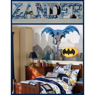Modern Super Hero Batman Bedroom Decor Theme Ideas for Kids