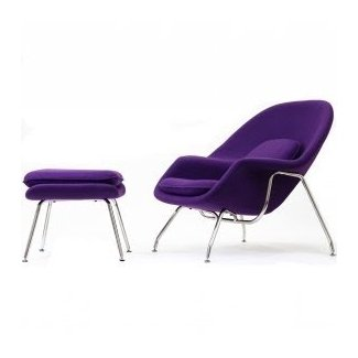 Modern Womb Chair and Ottoman Replica New For Sale