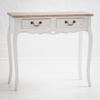 Montpellier Shabby Chic White Painted 2 Drawer Console ...