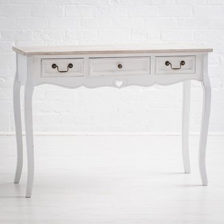 Montpellier Shabby Chic White Painted 3 Drawer Console ...