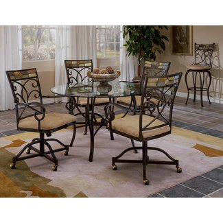 Mosaic Dining Chair with Casters - Set of 2