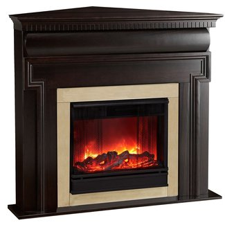 Mt. Vernon Corner Electric Fireplace | Ventless Gas ...
