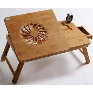 Multi-functional Laptop Table / Bamboo portable bed tray ...