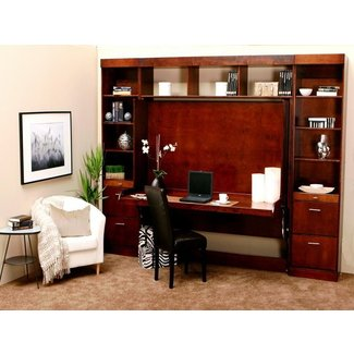Murphy Bed with Brown Desk | Stroovi