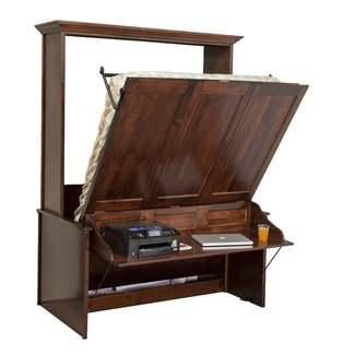 Murphy Wall Bed and Desk | Amish Murphy Desk Bed