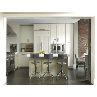 narrow bar stools Kitchen Modern with brick wall brick ...
