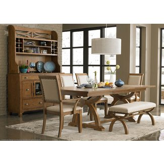 Narrow Dining Table with Benches | Home Furniture and Decor