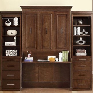 Natanielle Full Murphy Bed with Desk and 2 Storage ...